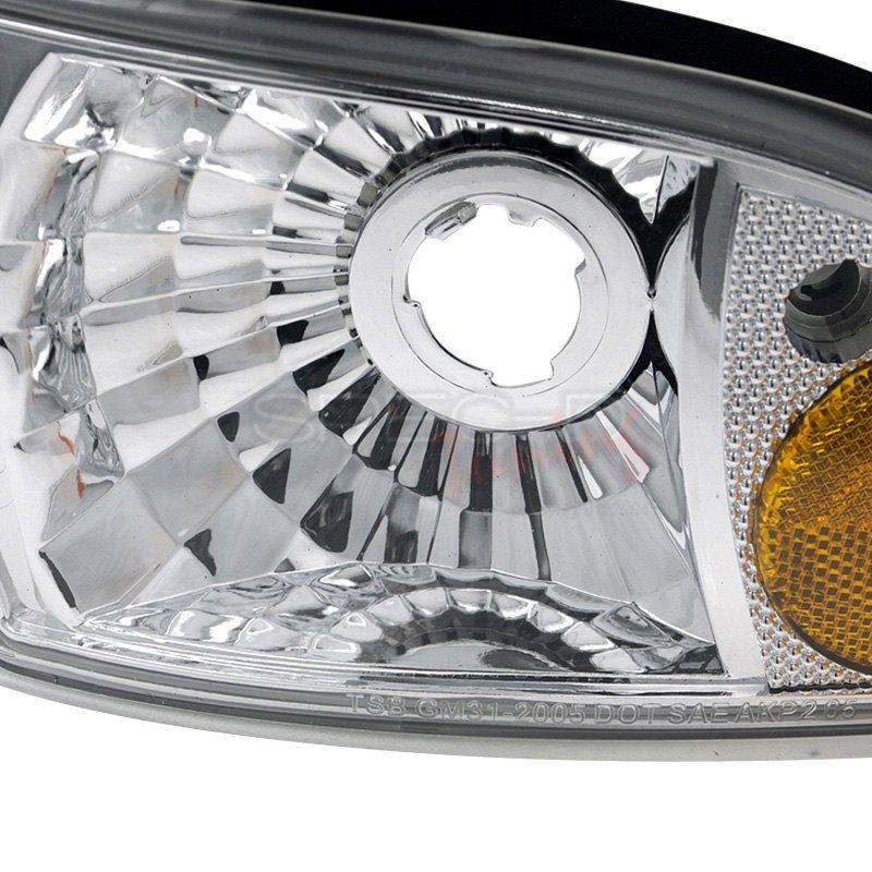 Spec-D® 2LCLH-IPA91-EU - Chrome Euro Headlights with Corner Lights