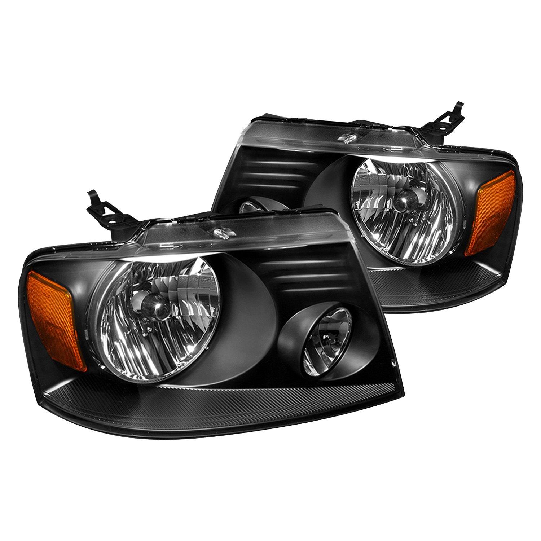 Spec D Ford F 150 2007 Black Euro Headlights