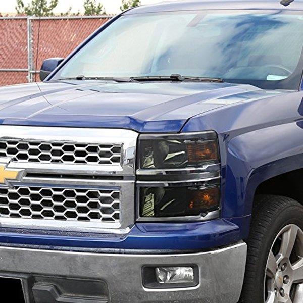 spec d chevy silverado 2016 chrome smoke euro headlights. Black Bedroom Furniture Sets. Home Design Ideas