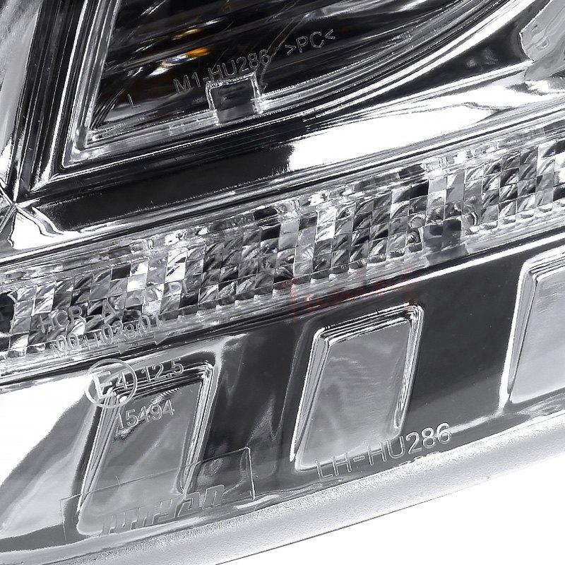 R8 Style Spec-D Tuning 2LHP-A406-8-TM Chrome Projector Headlight