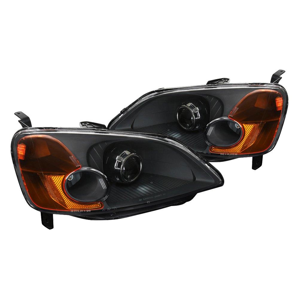 Spec D 174 Honda Civic 2001 Black Projector Headlights