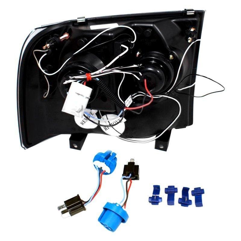 spec d 2lhp f25099jm tm black dual halo projector headlights with rh carid com spec d tuning headlight wiring diagram spec d tuning headlight wiring diagram