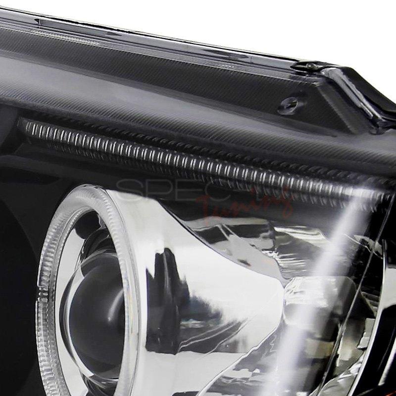spec d jeep grand cherokee 2002 black dual halo projector led headlights. Black Bedroom Furniture Sets. Home Design Ideas