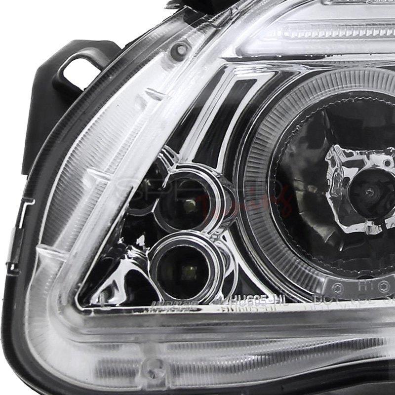 SpecD 2LHPTC05TM  Chrome Dual Halo Projector LED Headlights