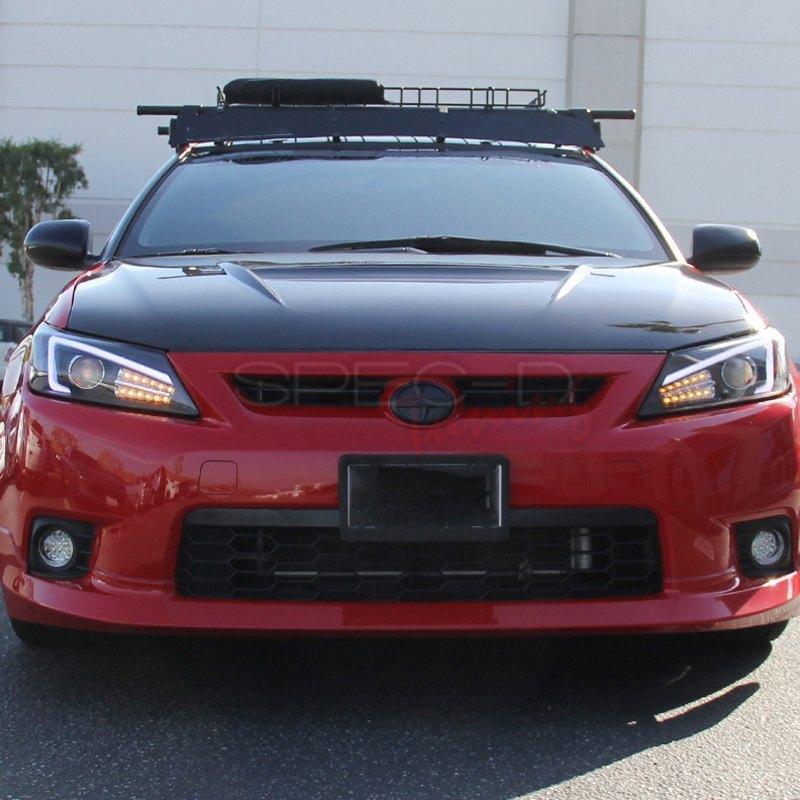 Scion Tc Headlights >> Spec D Black Drl Bar Projector Headlights With Led Turn Signal