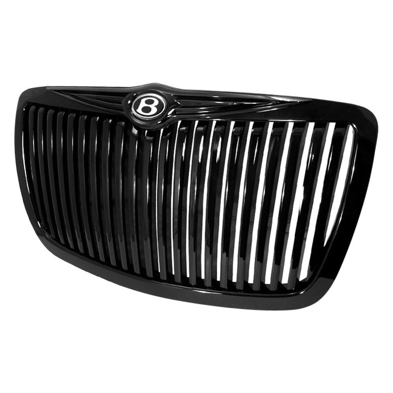 Black 2005 2006 2007 2008 2009 2010 Chrysler 300c: Chrysler 300 2010 1-Pc Black Vertical Billet