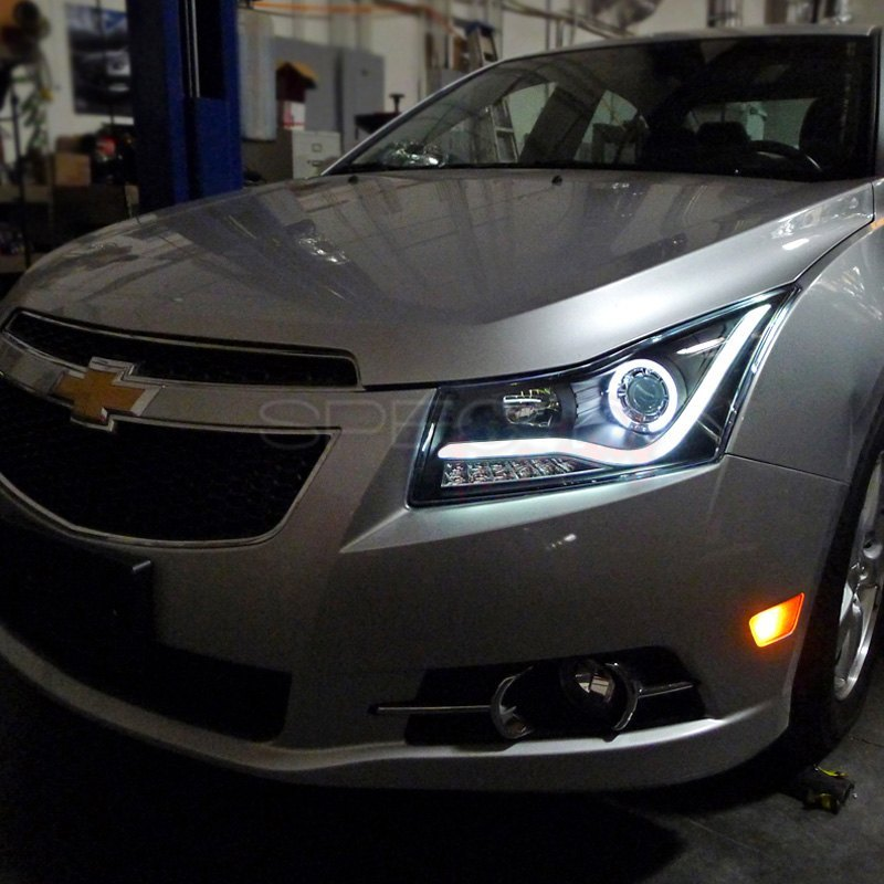 Spec D 174 Chevy Cruze 2014 Black U Bar Halo Projector