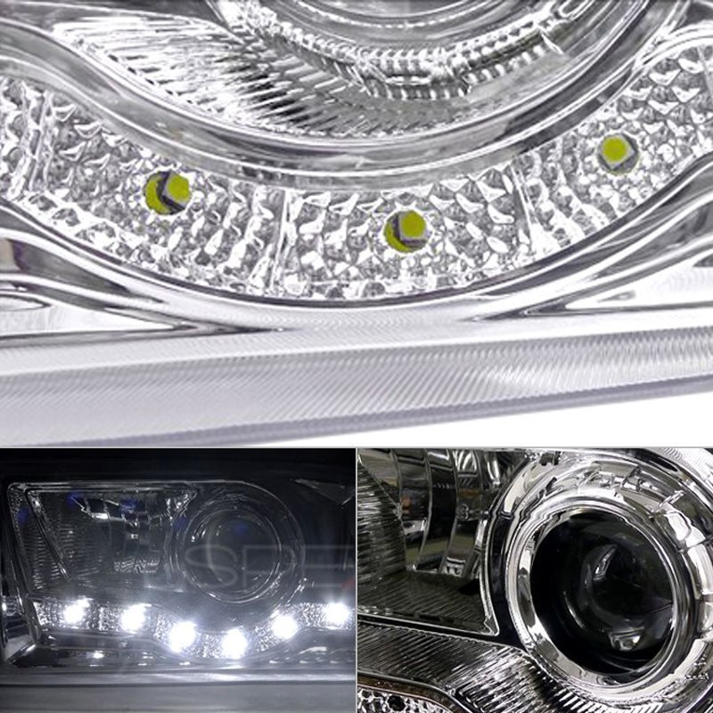 Led Housing Spec-D Tuning LHP-F25099-RS Chrome Projector Headlight