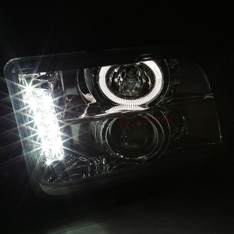 Halo Led Spec-D Tuning LHP-MST05-TM Chrome Projector Headlight
