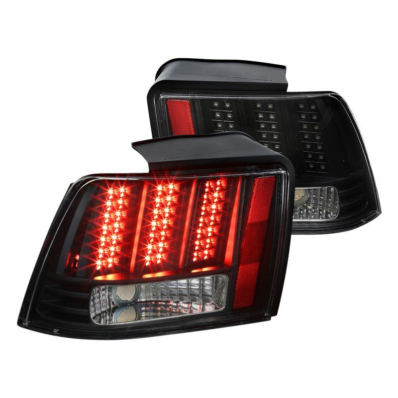 Spec D Ford Mustang Base Equipado Gt 2000 Black Sequential Led Tail Lights