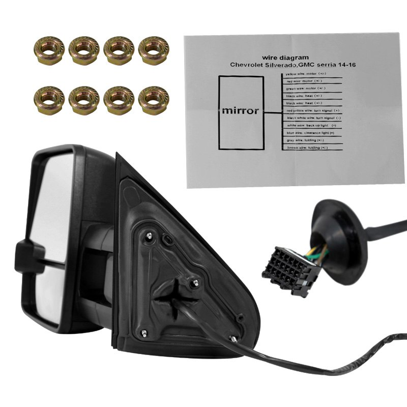 driver and passenger side power towing mirrorsspec-d® - driver and passenger  side manual towing mirrorsspec-d® - driver and passenger side manual towing