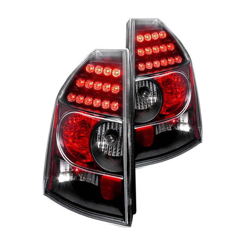Chrysler 300 2006 Black Led Tail Lights: Chrysler 300 / 300C 2005 Black