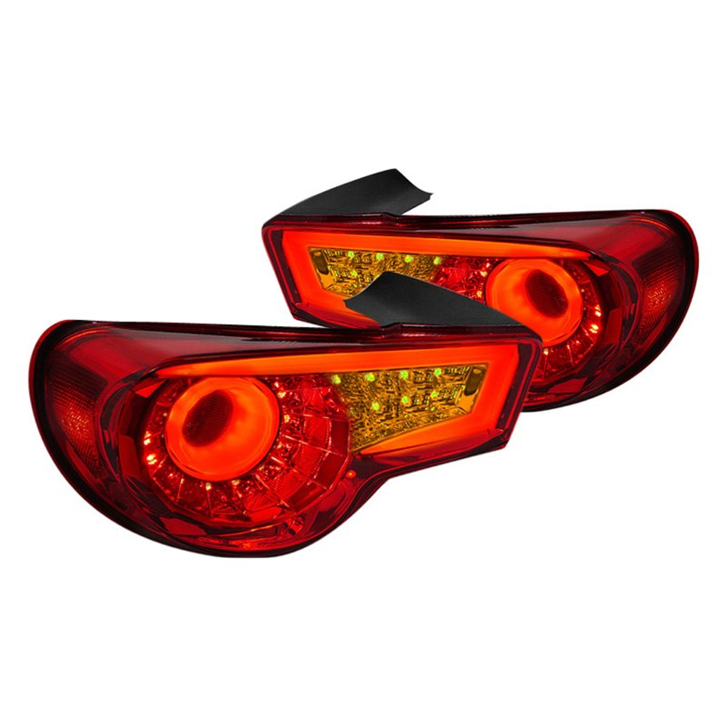 Spec D 174 Scion Fr S 2013 Chrome Red Fiber Optic Led Tail