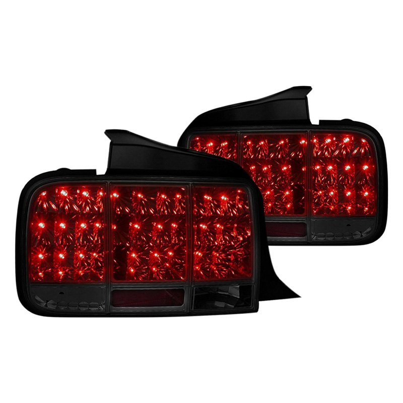 spec d ford mustang 2008 chrome smoke led sequential tail lights. Black Bedroom Furniture Sets. Home Design Ideas