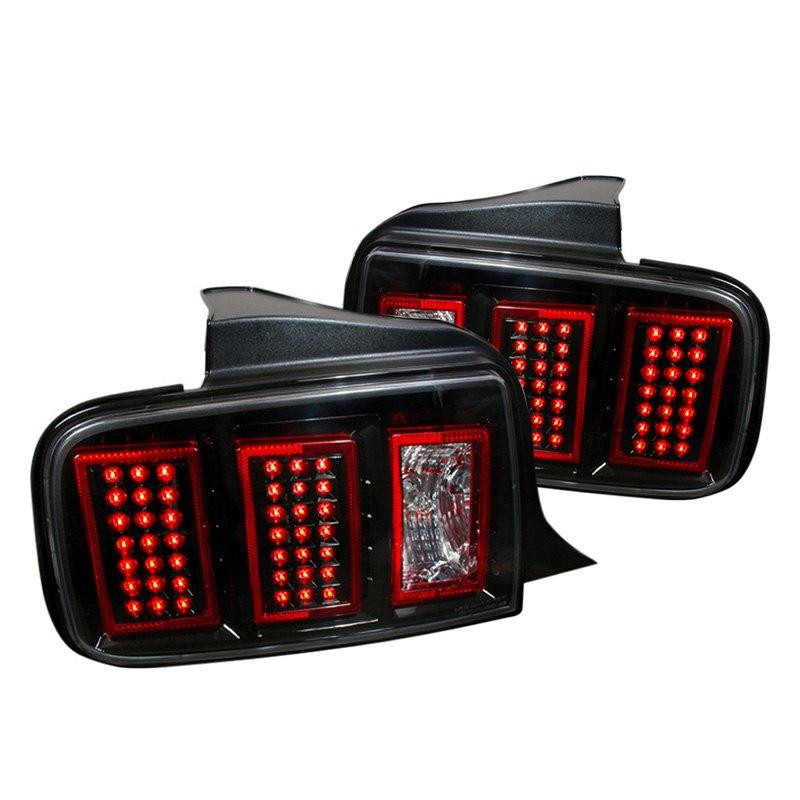 spec d lt mst05jmled dp ford mustang 2005 black led. Black Bedroom Furniture Sets. Home Design Ideas