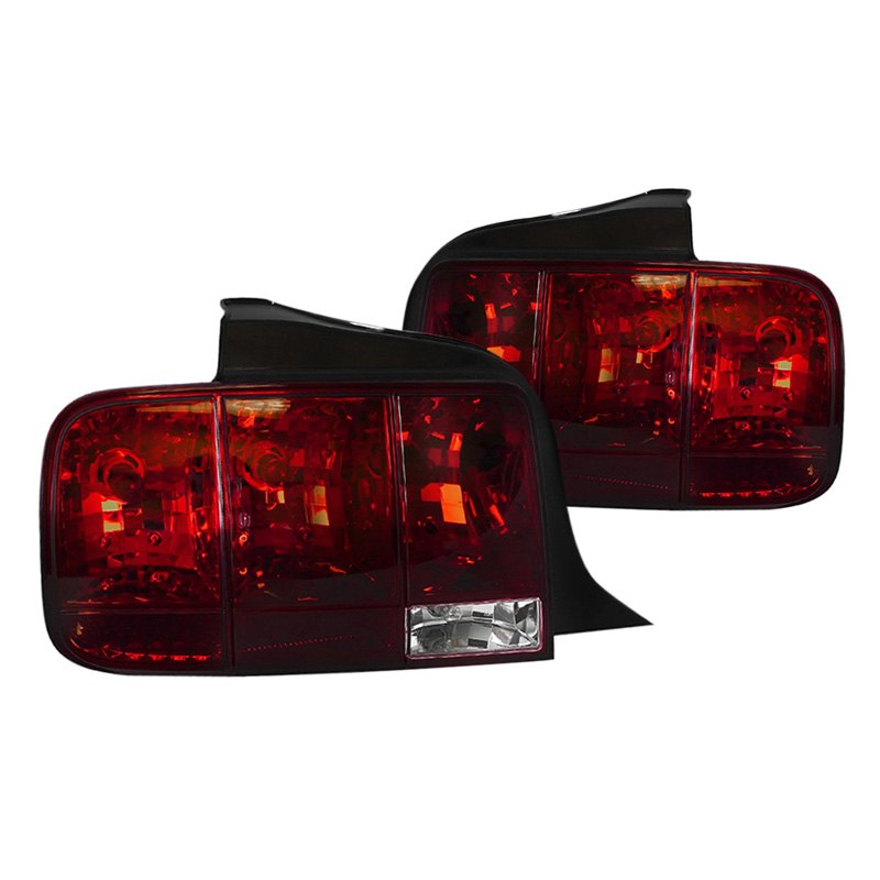 sq tm ford mustang 2005 chrome red euro sequential tail lights. Black Bedroom Furniture Sets. Home Design Ideas
