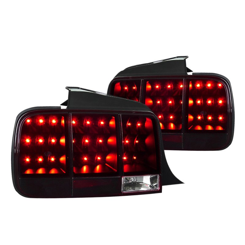 ford mustang 2008 black red smoke led sequential tail lights. Black Bedroom Furniture Sets. Home Design Ideas