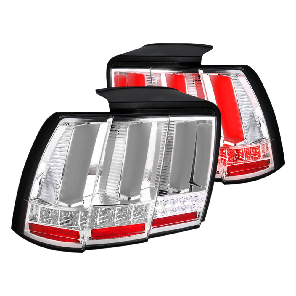 mst99cled sq tm ford mustang 2000 chrome led sequential tail lights. Black Bedroom Furniture Sets. Home Design Ideas