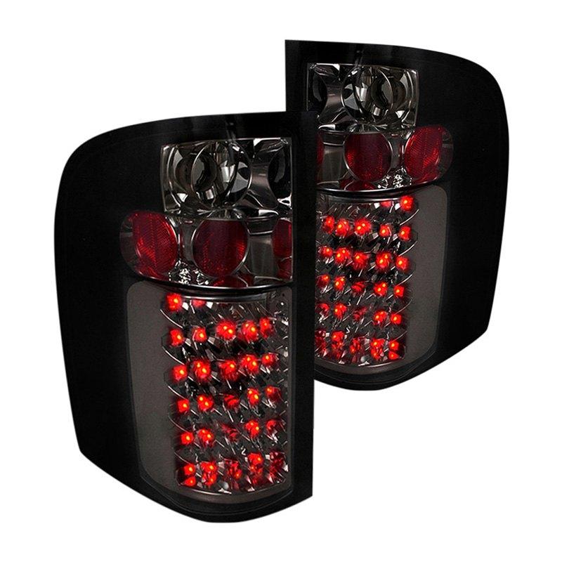 Spec d chevy silverado 2011 2013 chrome smoke led tail - Led interior lights for 2013 chevy silverado ...