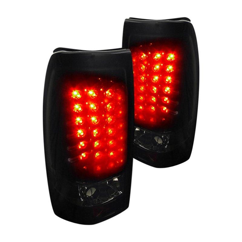 Silverado Led Lights : Spec-D® - Chevy Silverado 2001-2002 Black LED Tail Lights