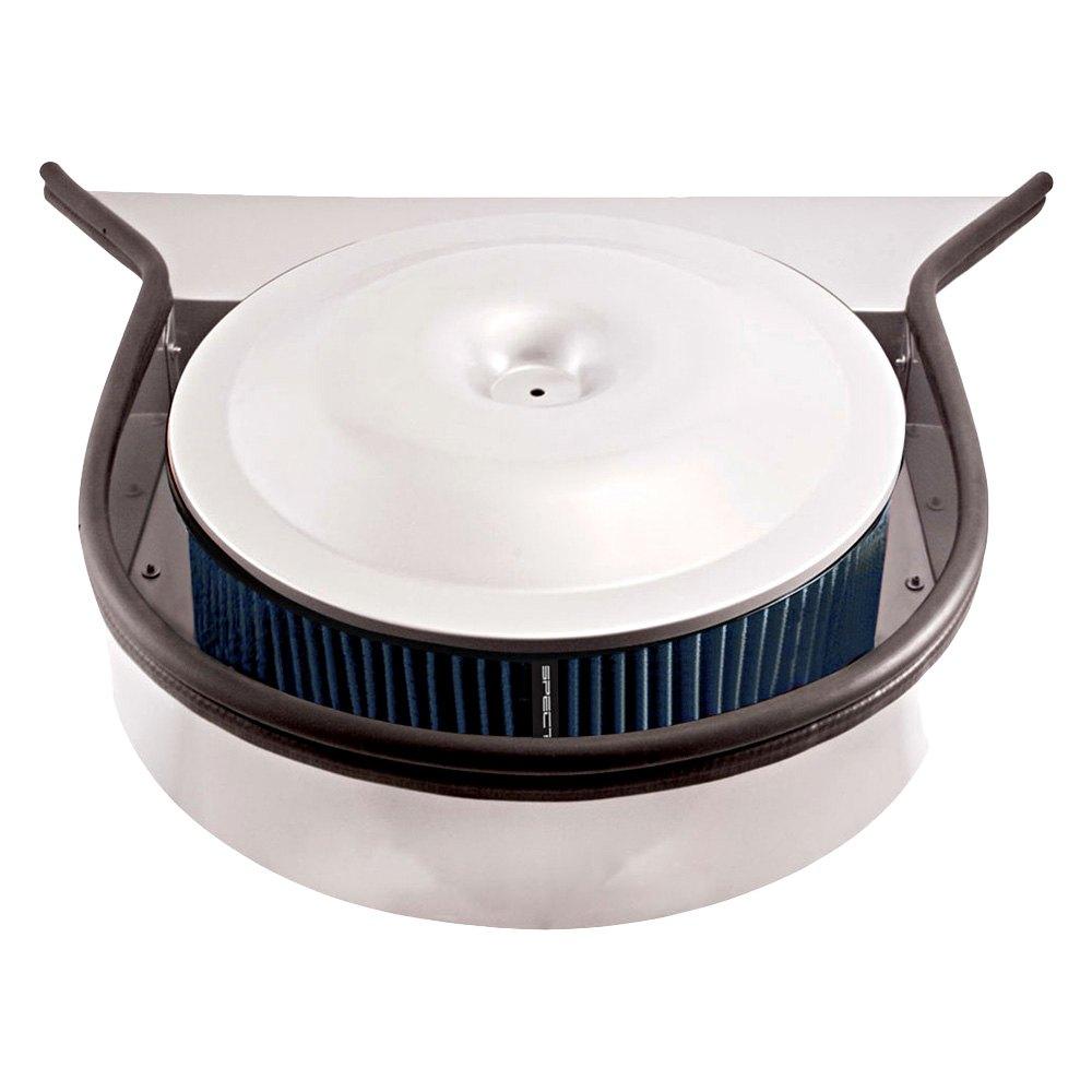 Air Cleaner Through Hood : Spectre cowl hood design round blue air cleaner
