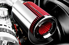 ASpectre Performance® - ir Intake Kit with Red Filter and Heat Shield