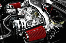 Spectre Performance® - Low Profile Dual Inlets Plenum Style Air Intake Kit Installed