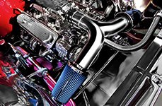 Spectre Performance® - Y-Pipe Air Intake Kit with Blue Filters