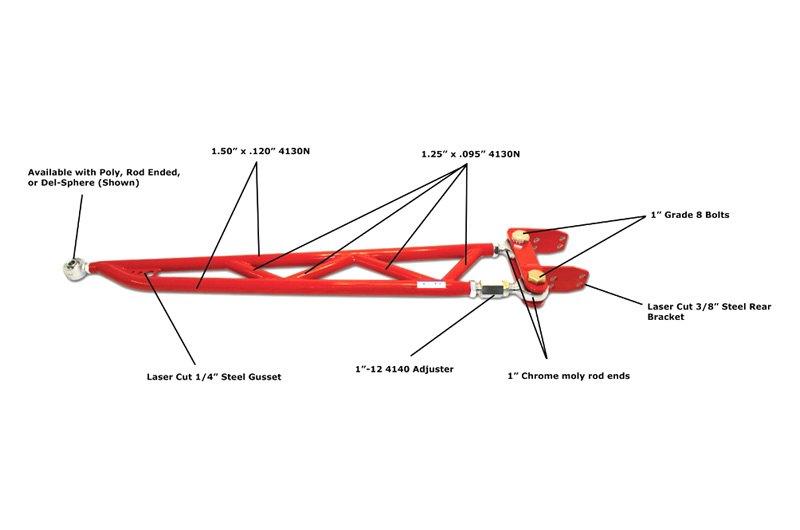 Spohn Performance® 318-PSB-12 Bolt - Pro-Series Adjustable Torque Arm