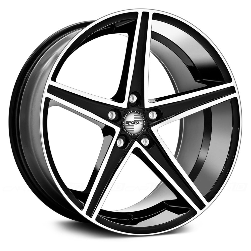 Sporza 174 Topaz Wheels Black With Machined Face Rims