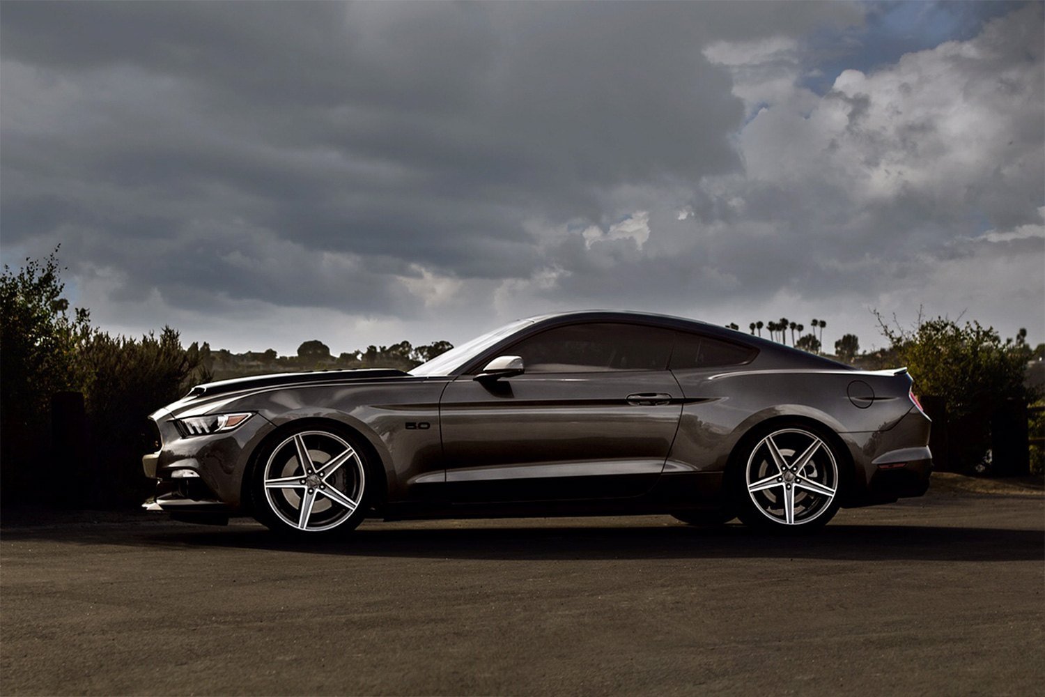 topaz bronze with machined face on ford mustang custom wheels benefits sporza