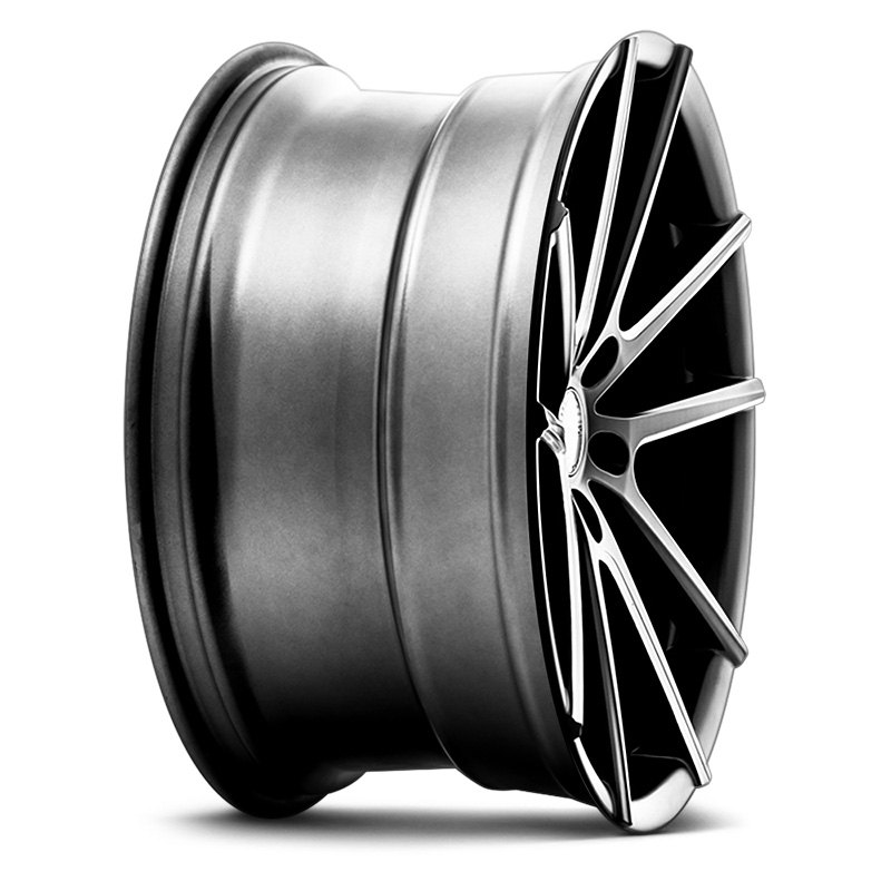 Satin Black With Milled Accents Rims
