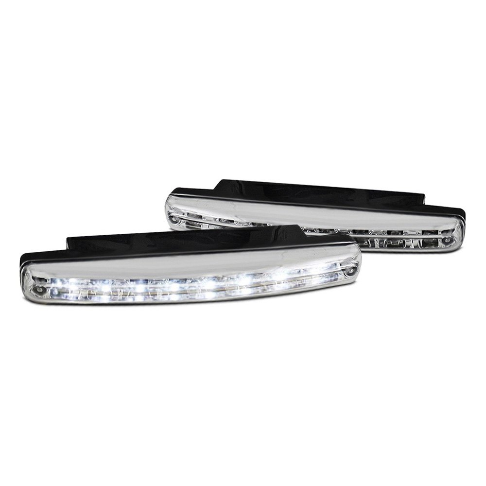 spyder cbl drl 8led c chrome led daytime running lights. Black Bedroom Furniture Sets. Home Design Ideas