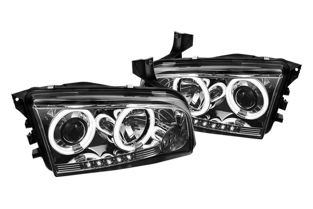 Spyder 174 Smoke Halo Projector Headlights With Leds