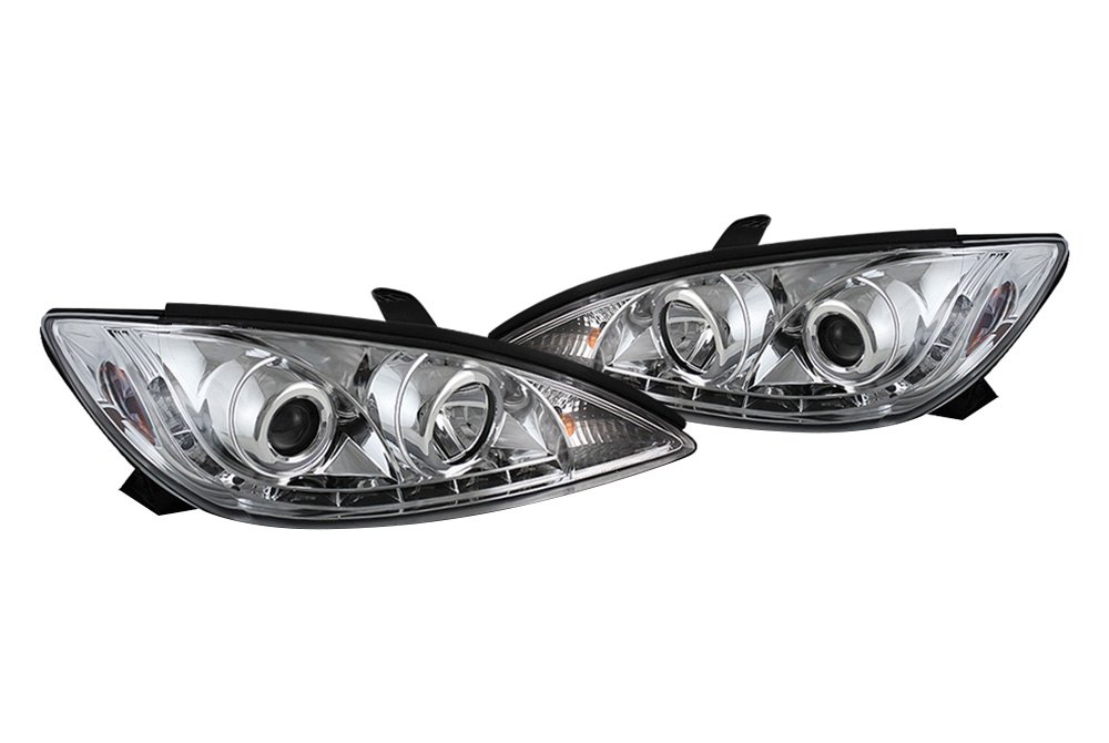 spyder pro yd tcam02 drl c 5042781 chrome projector headlights with leds. Black Bedroom Furniture Sets. Home Design Ideas