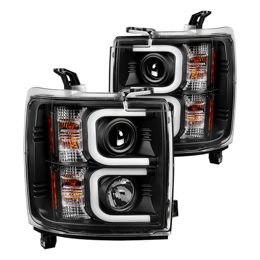 stylish led projector headlights for 2015 silverado gm. Black Bedroom Furniture Sets. Home Design Ideas