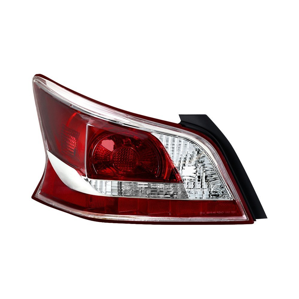 spyder nissan altima with factory halogen tail lights 2013 chrome red factory style tail. Black Bedroom Furniture Sets. Home Design Ideas