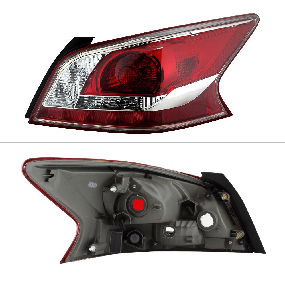 spyder nissan altima with factory halogen tail lights 2013 chrome red factory style tail light. Black Bedroom Furniture Sets. Home Design Ideas