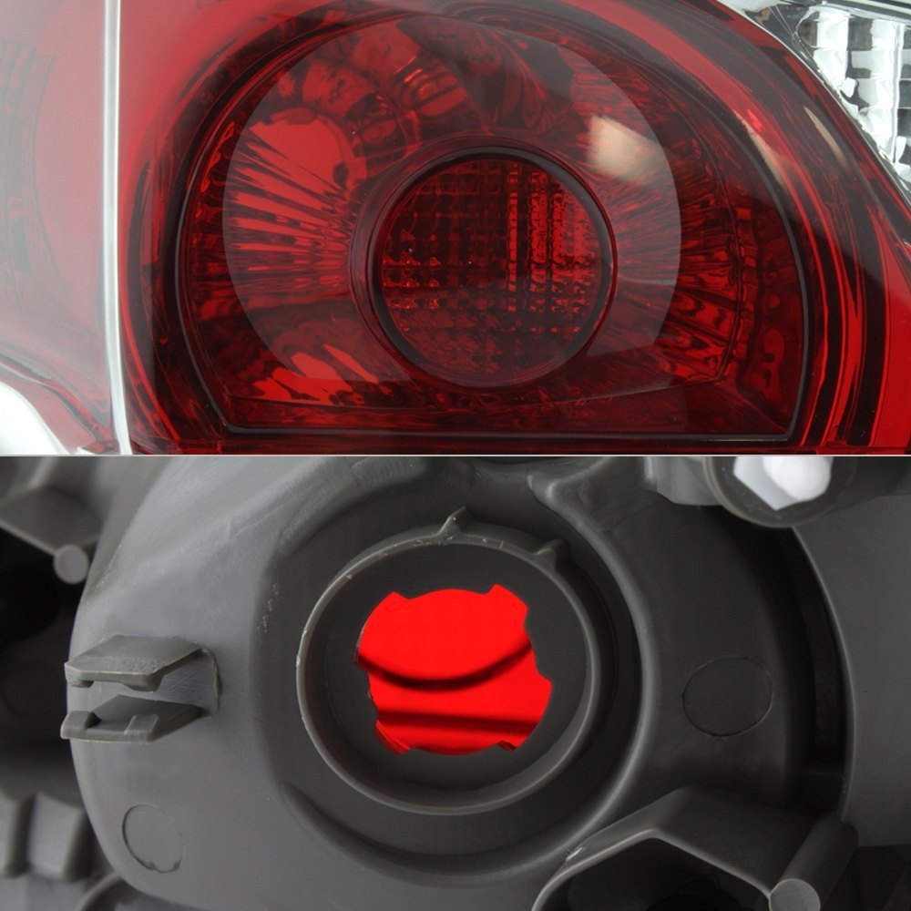 spyder nissan altima with factory halogen tail lights 2013 2015 chrome red factory style tail. Black Bedroom Furniture Sets. Home Design Ideas