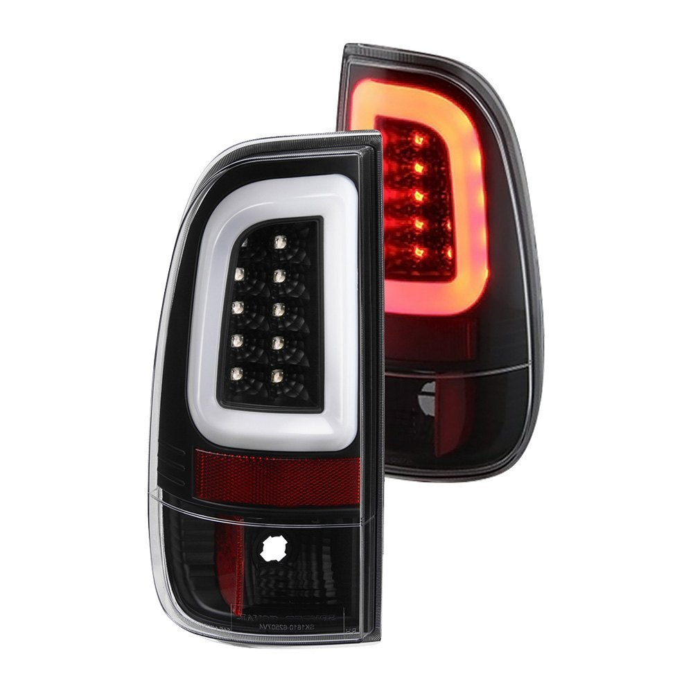spyder ford f 250 2011 black fiber optic led tail lights. Black Bedroom Furniture Sets. Home Design Ideas