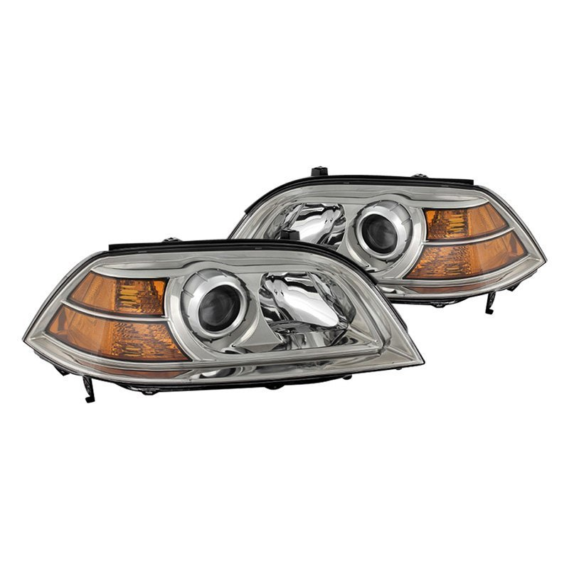 Spyder Acura MDX Chrome Projector Headlights - 2004 acura mdx headlights