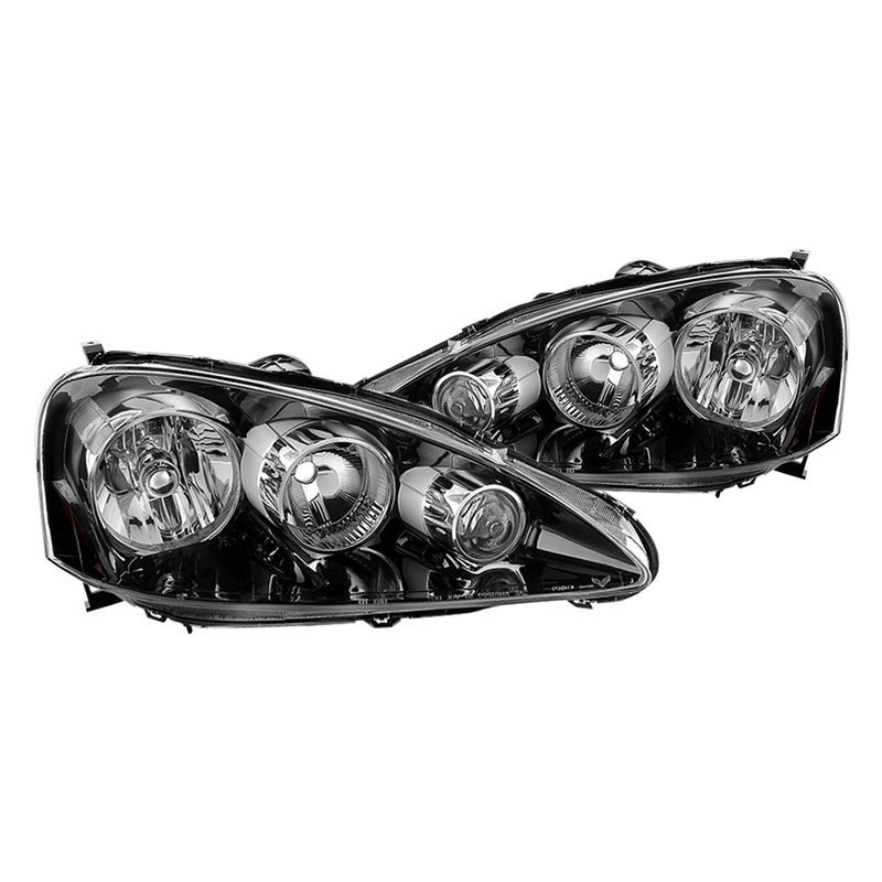 Spyder Acura RSX Black Factory Style Headlights - 2006 acura rsx headlights