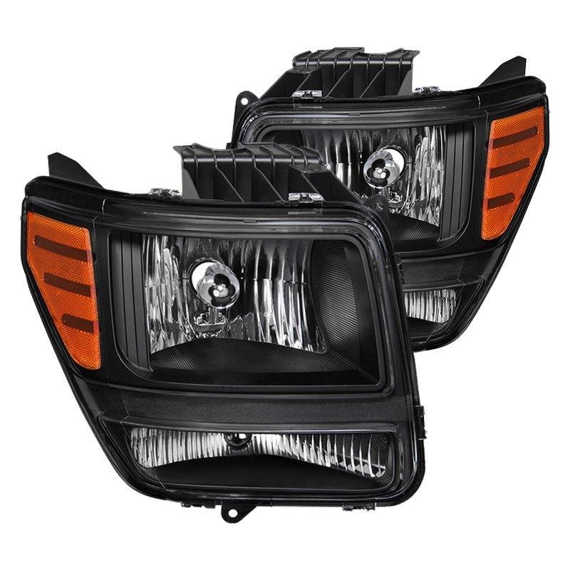 Dodge Nitro 2008 Black Factory Style Headlights