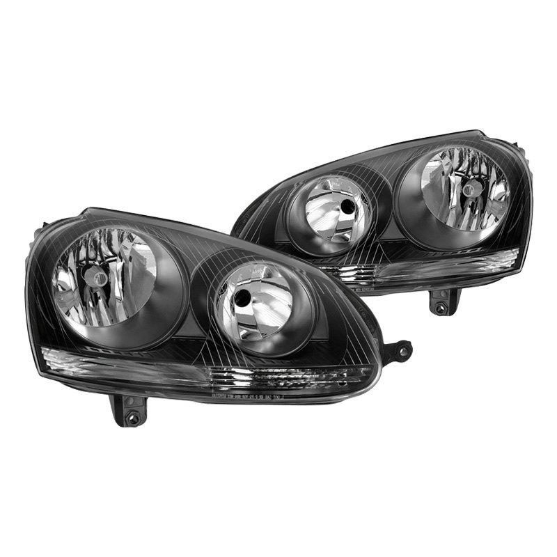 Spyder Volkswagen Golf City R32 With Factory Halogen. Spyder Black Factory Style Headlights. Volkswagen. 2008 Volkswagen R32 Hid Wiring Diagram At Scoala.co