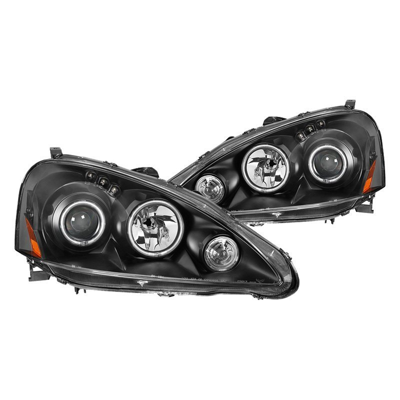 Spyder Acura RSX Black CCFL Halo Projector Headlights With - Acura rsx headlights