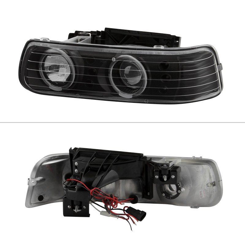 Spyder PROJHCSIL99SETBK Black Halo Projector Headlights with