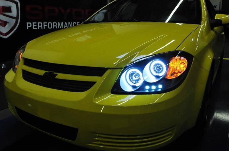 Black Ccfl Halo Projector Headlights With Parking Leds