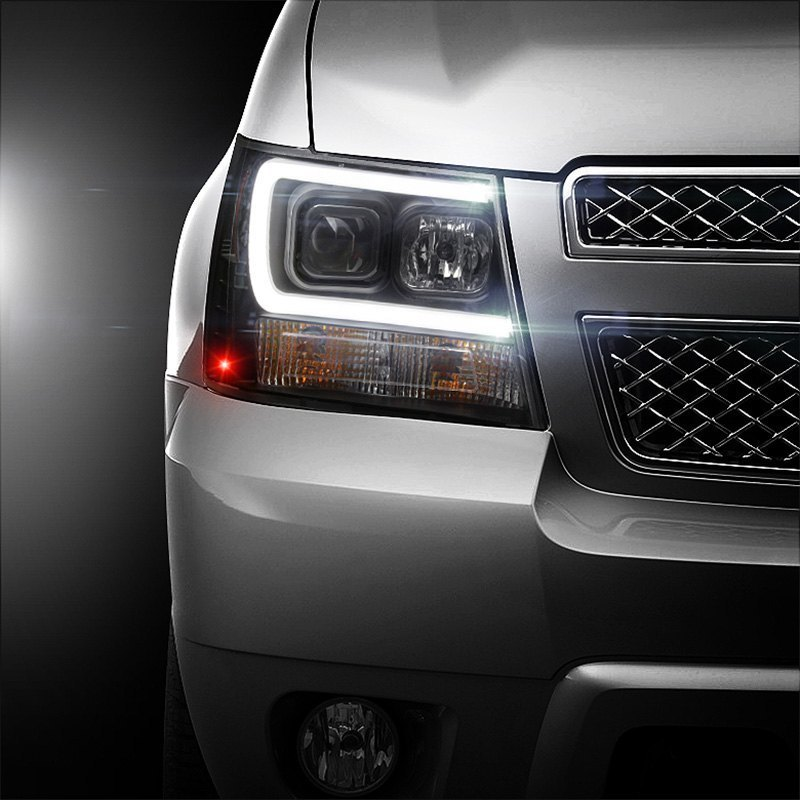 Spyder® - Chevy Avalanche 2012 Black LED DRL Bar Projector ...