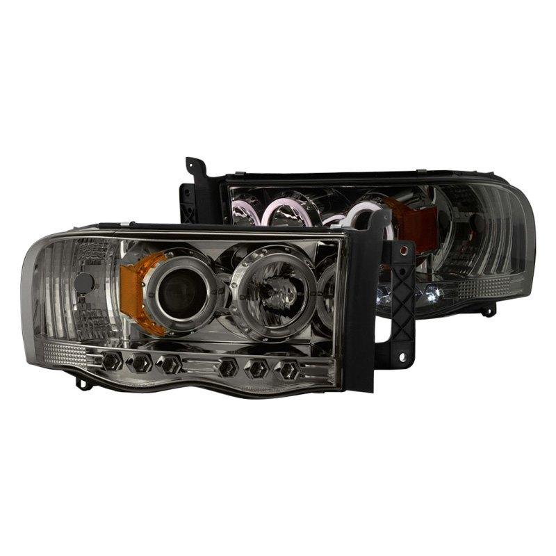 Spyder Auto PRO-YD-DR02-HL-SMC Smoke Halo LED Projection Headlight