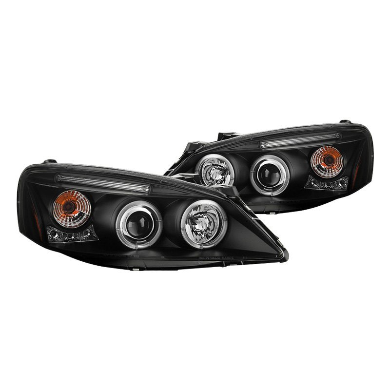 Spyder Pontiac G6 2006 Black Halo Projector Headlights With Parking Leds